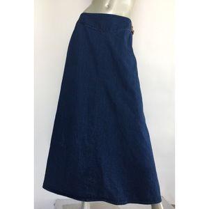 Talbots Denim Skirt Long Maxi Modesty 10
